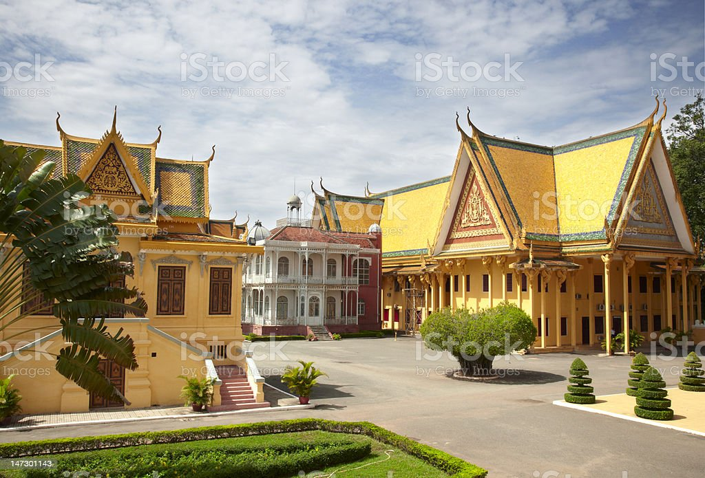 Palacio Real. Phnom Penh royalty-free stock photo