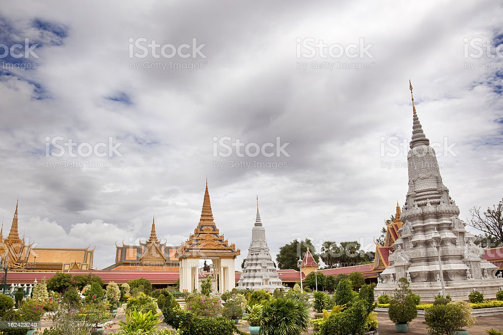Royal Palace. Phnom Penh royalty-free stock photo