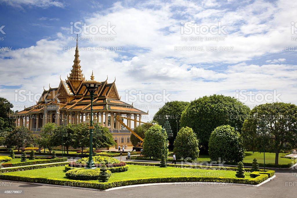 Royal Palace. Phnom Penh royalty-free stock photo