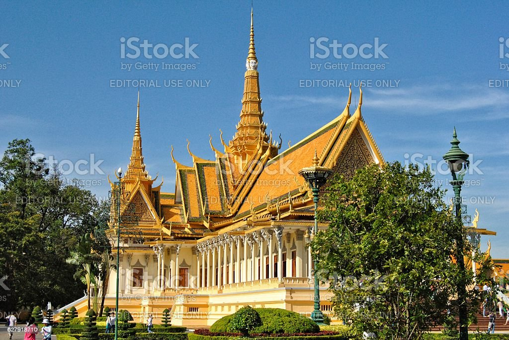 Palazzo Reale di Phnom Penh foto stock royalty-free