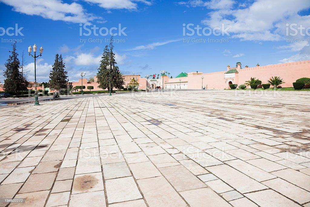 Royal palace square stock photo
