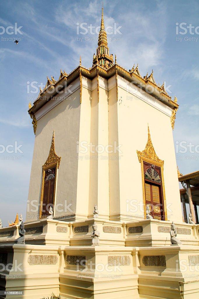 Temple du Palais Royal à Phnom Penh. photo libre de droits