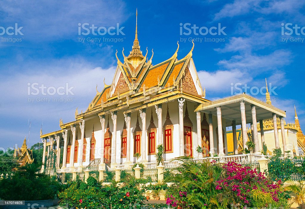 Royal Palace – The Silver Pagoda, Phnom Penh, Cambodia stock photo