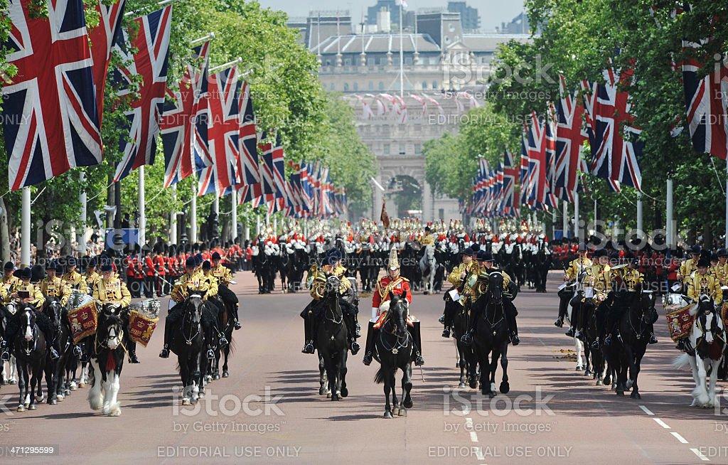 Royal Parade through London stock photo
