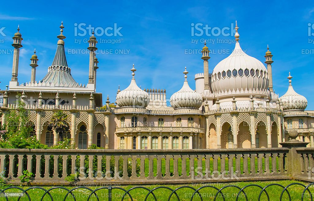 Royal Pavilion in Brighton in East Sussex of England stock photo