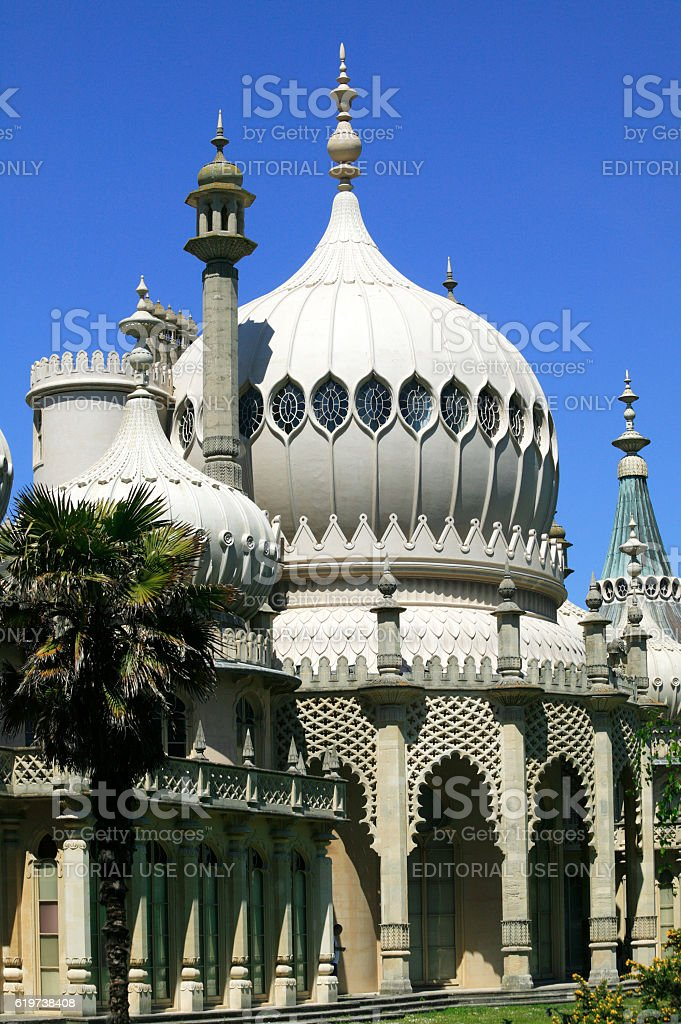 Royal Pavilion in Brighton stock photo