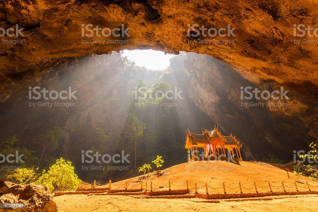 Royal pavilion in the Phraya Nakhon Cave stock photo
