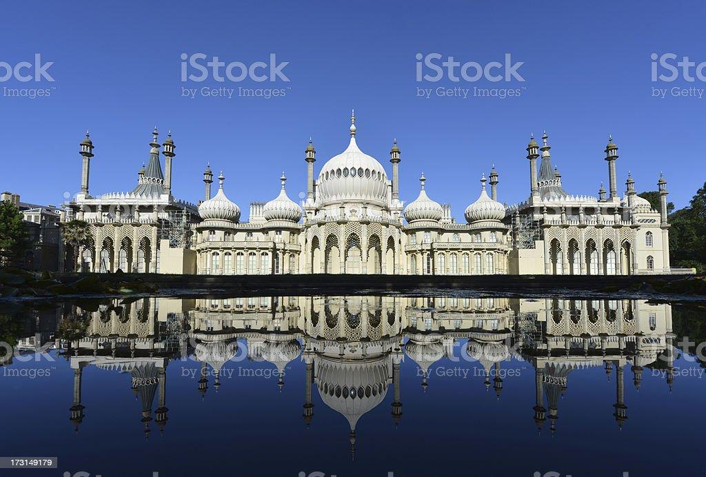 Royal Pavilion reflected stock photo
