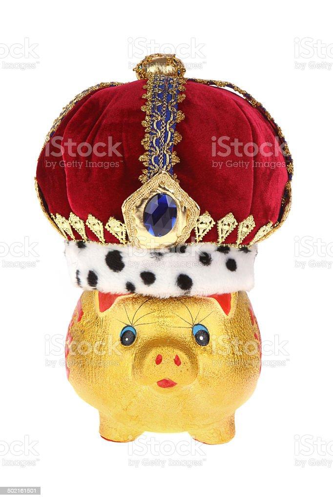 Royal Piggybank royalty-free stock photo