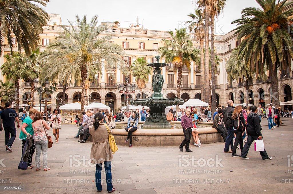 Royal Plaza, Barcelona stock photo