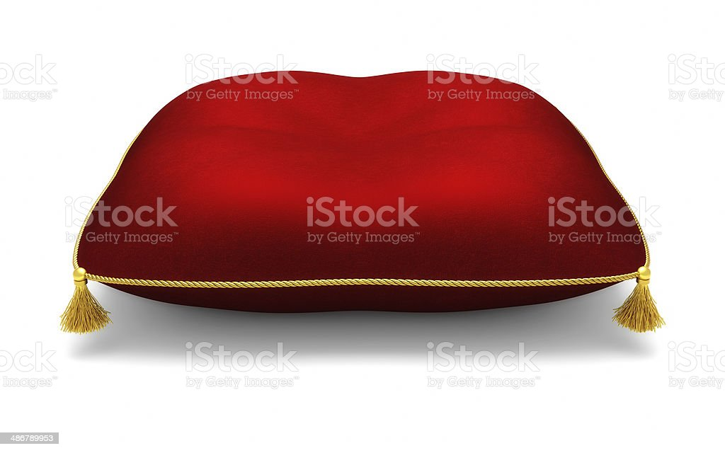 Royal red pillow stock photo