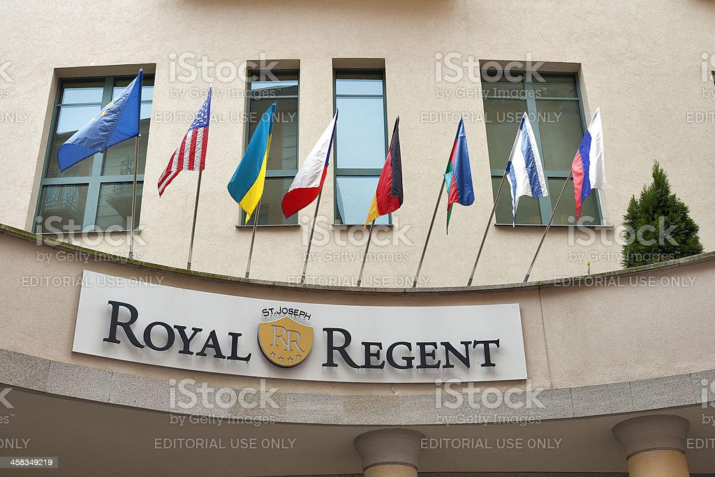 Royal Regent Hotel in Karlovy Vary royalty-free stock photo