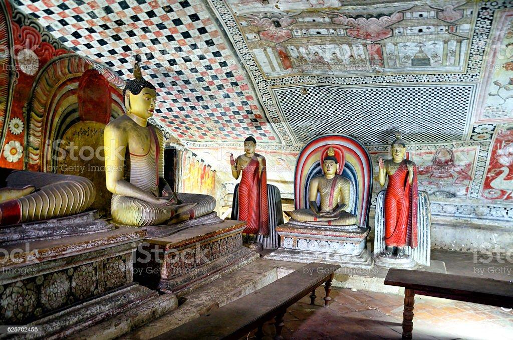 Royal Rock Temple, Dambulla stock photo