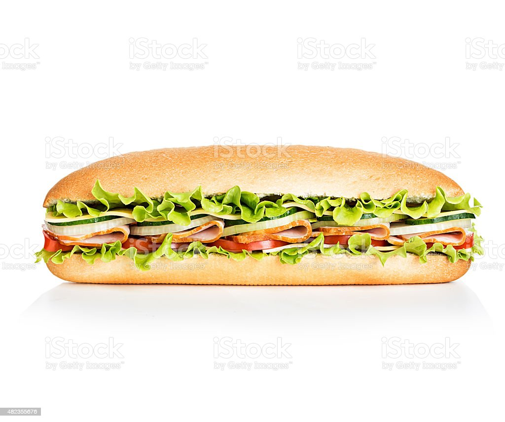 Royal sandwich isolated on white background stock photo
