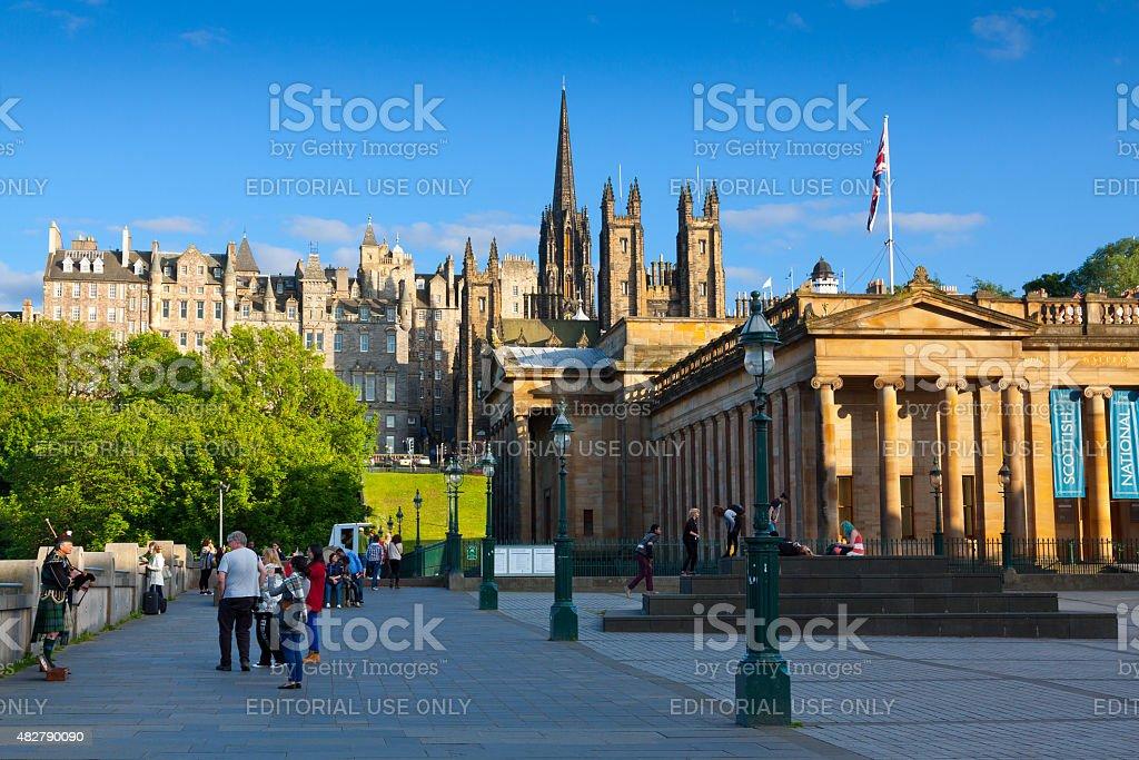 Royal Scottish Academy,  Edinburgh, Scotland, United Kingdom. stock photo