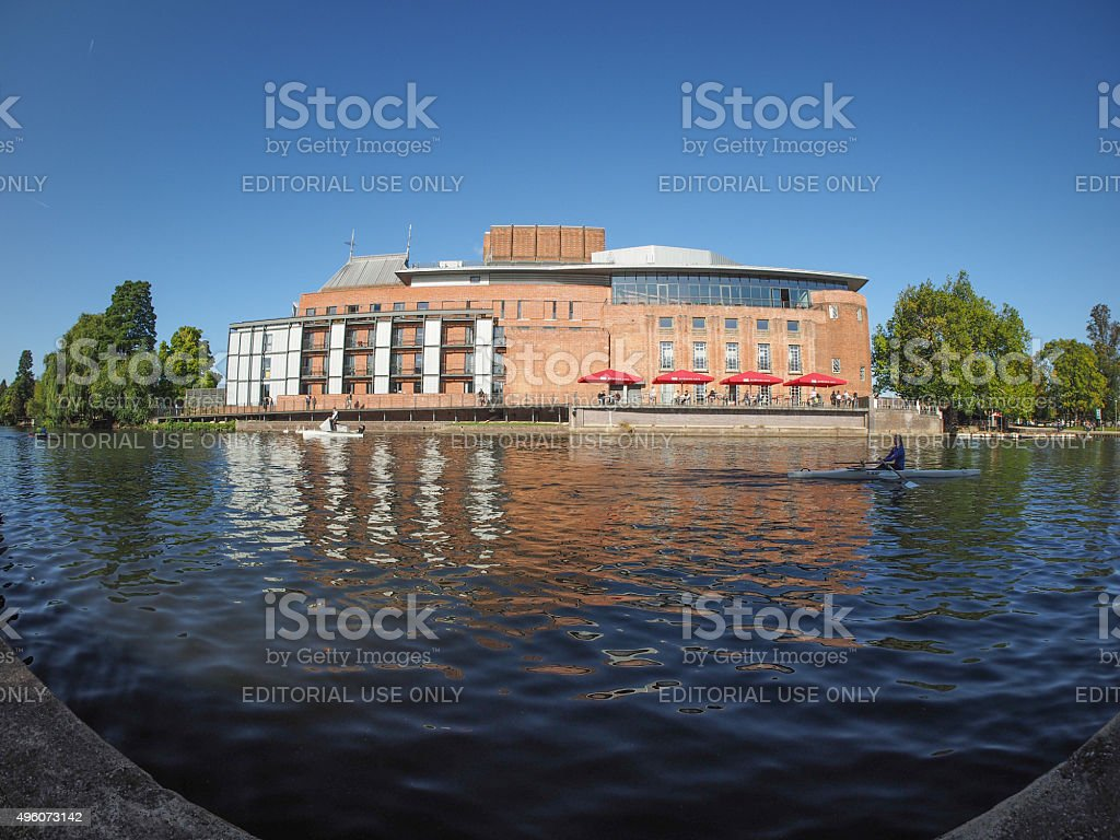 Royal Shakespeare Theatre in Stratford upon Avon stock photo