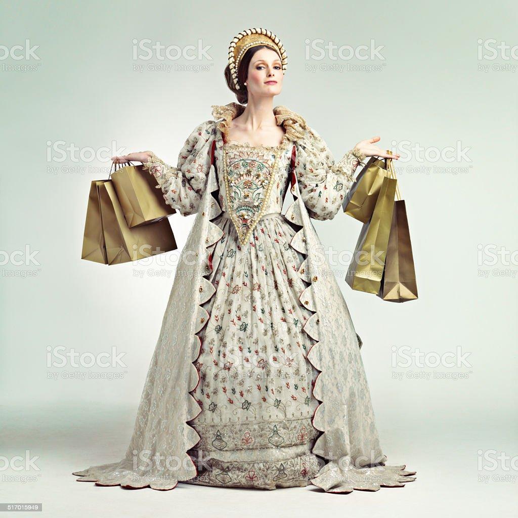 Royal shopping spree! stock photo