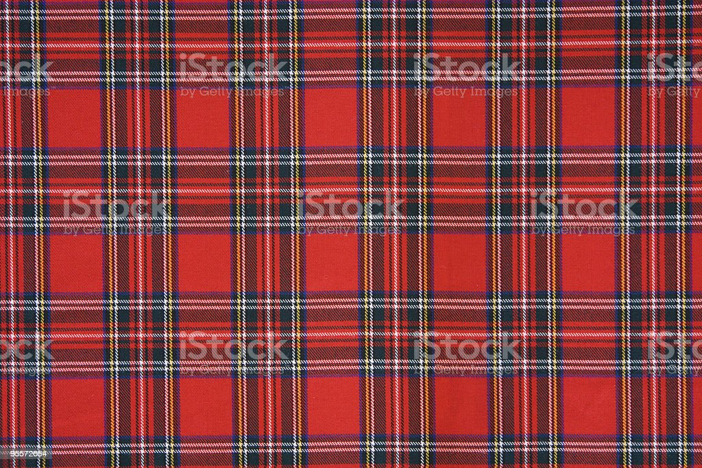 Royal Stewart tartan design cloth stock photo