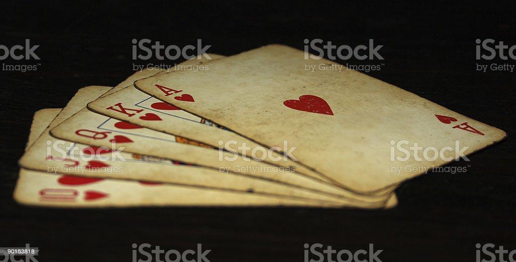 Royal Straight Flush-Poker – Foto