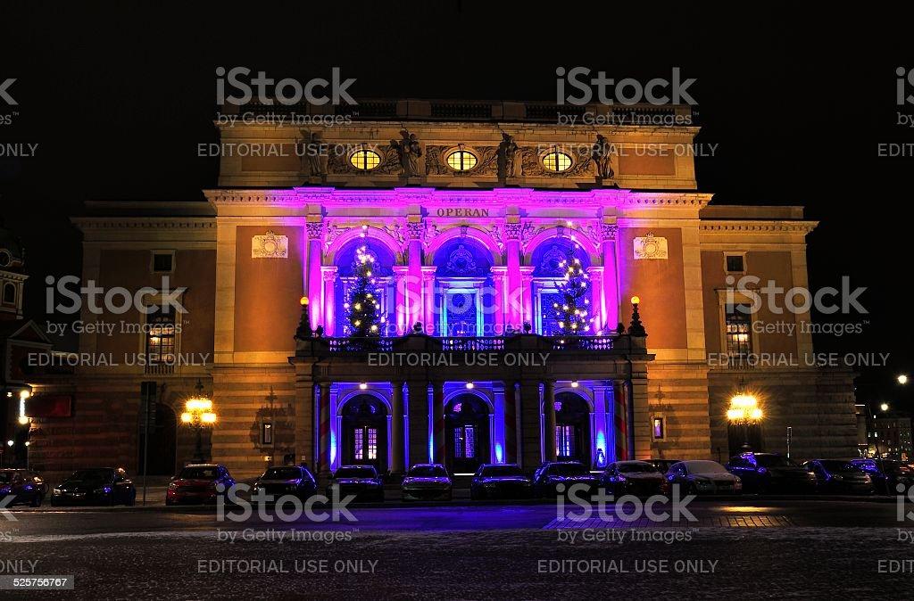 Royal Swedish Opera in Stockholm stock photo
