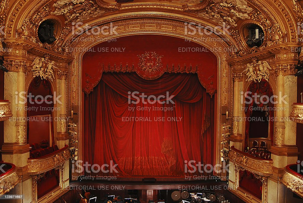 Royal Swedish Opera, interior stock photo