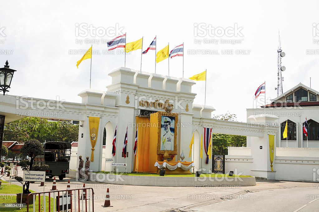 Royal Thai Naval Headquarters royalty-free stock photo
