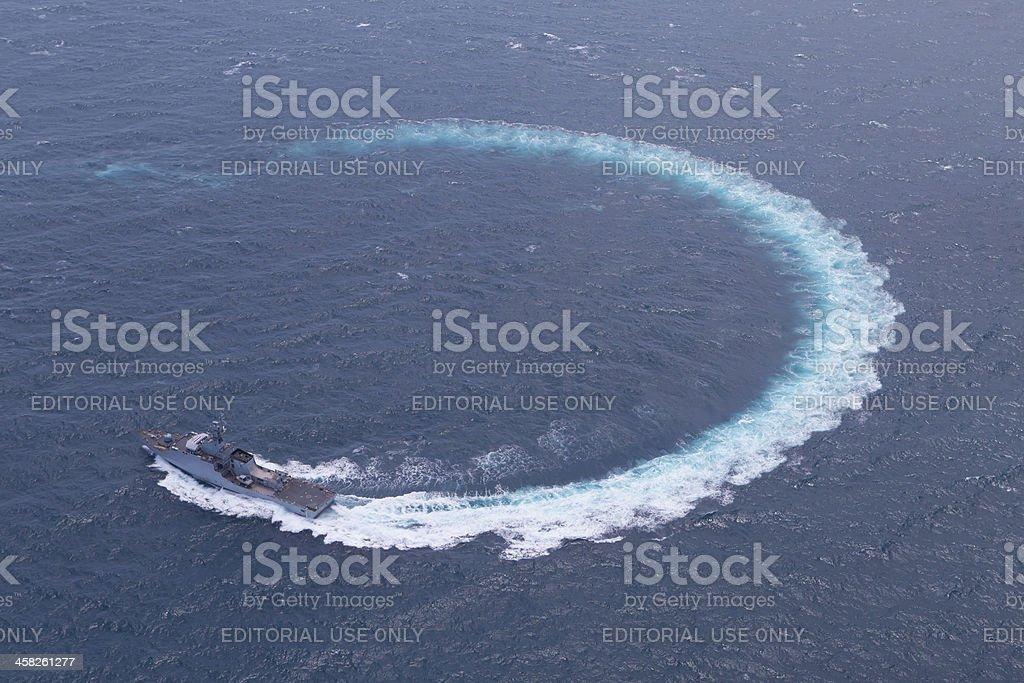 Royal Thai Navy test ship royalty-free stock photo