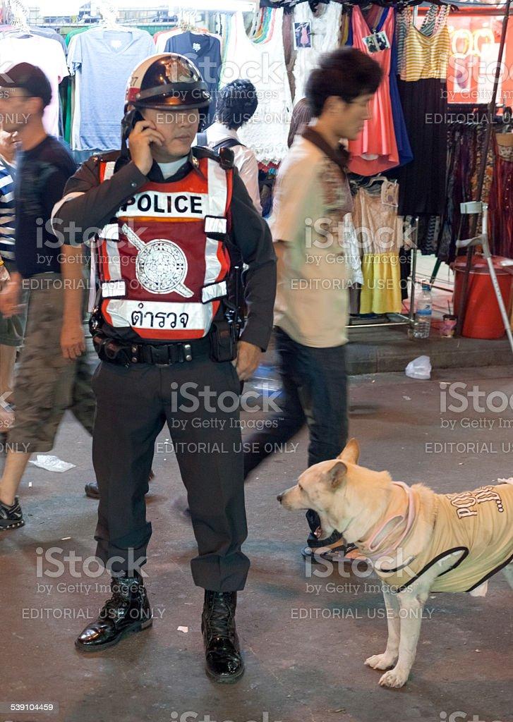 Royal Thai Police stock photo