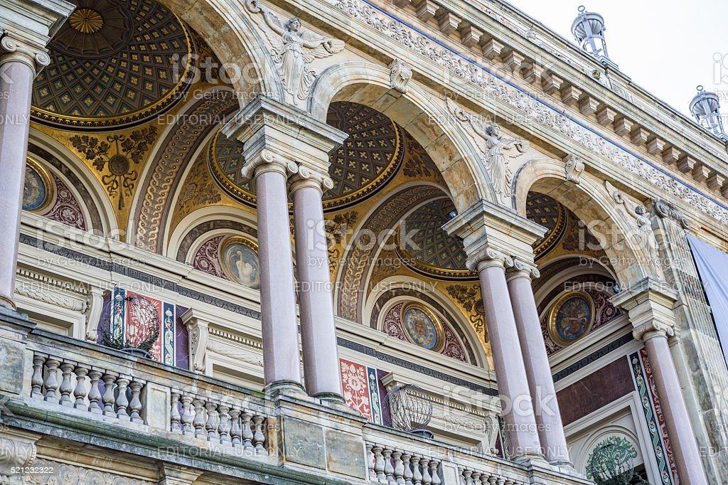 Royal Theater facade, Copenhagen, Denmark stock photo