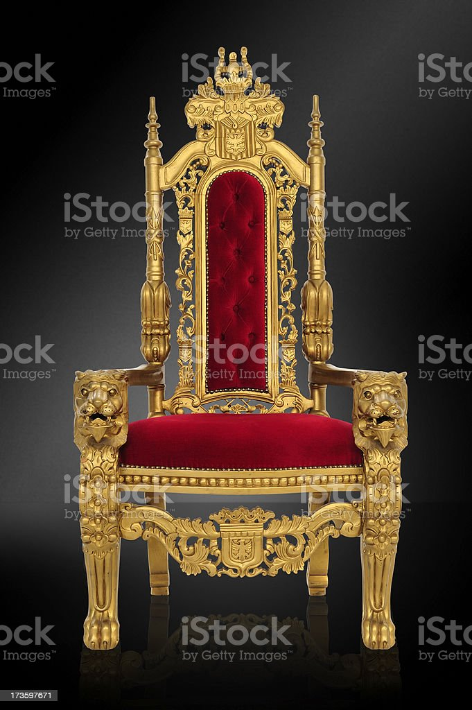 Royal Throne stock photo