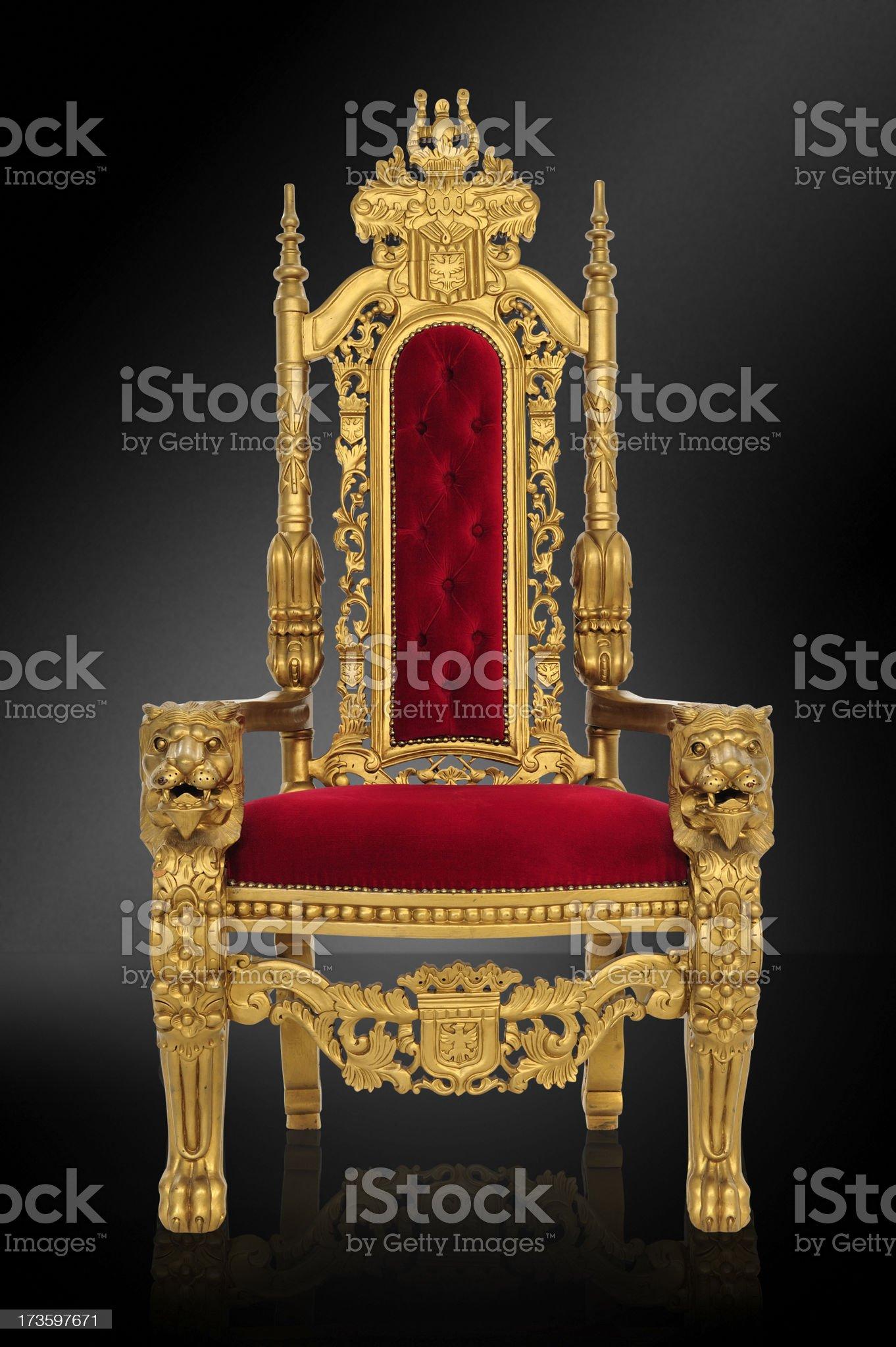 Royal Throne royalty-free stock photo