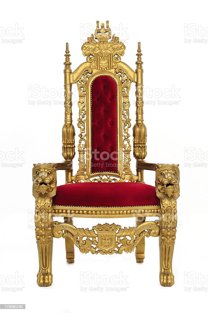 Royal Throne with Clipping Path stock photo