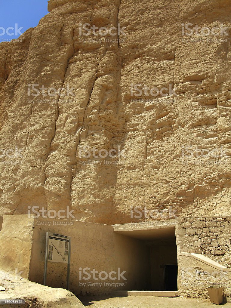 Royal tomb Tausert and Setnakht in the Valley of Kings royalty-free stock photo