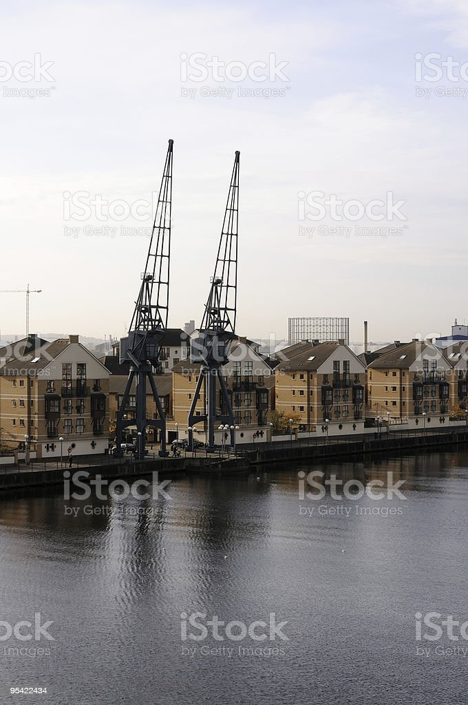 Royal Victoria Dock, London stock photo
