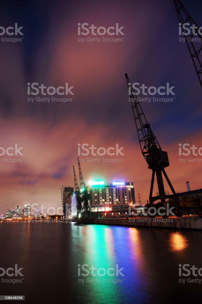 Royal Victoria Dock royalty-free stock photo