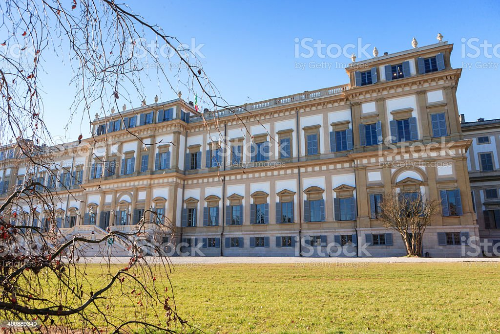 Royal Villa of Monza stock photo