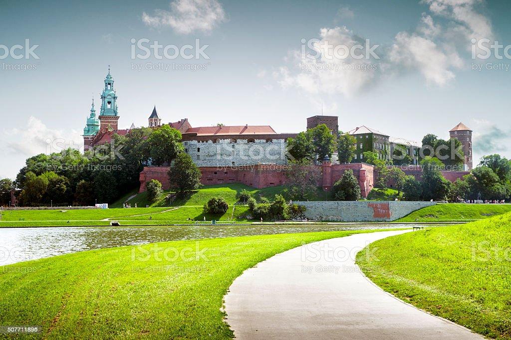 Royal wawel castle in Krakow, Poland stock photo