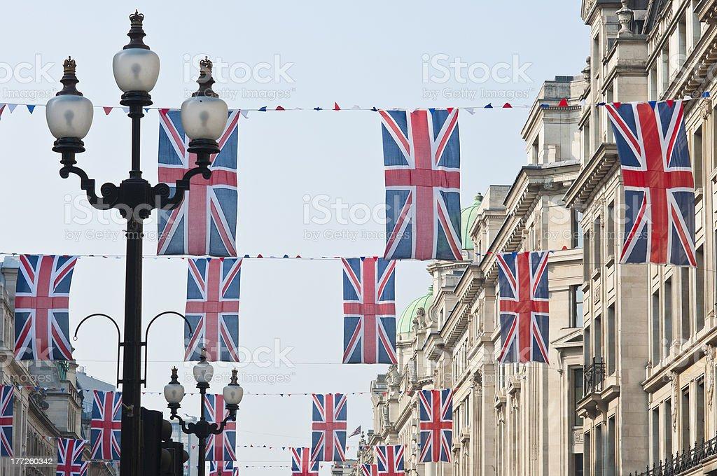 Royal Wedding 2011 Buntings stock photo