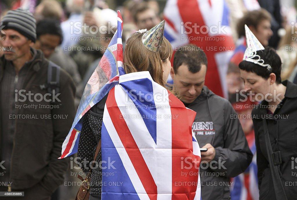 Royal Wedding 2011 in London, England royalty-free stock photo