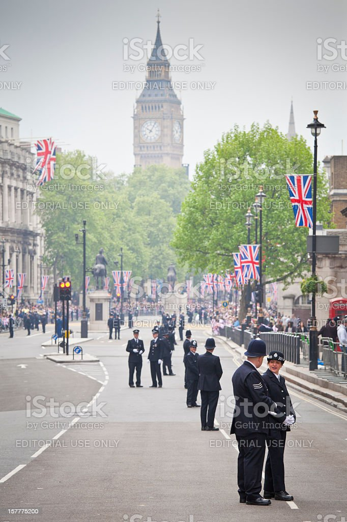 Royal Wedding Celebrations in London royalty-free stock photo