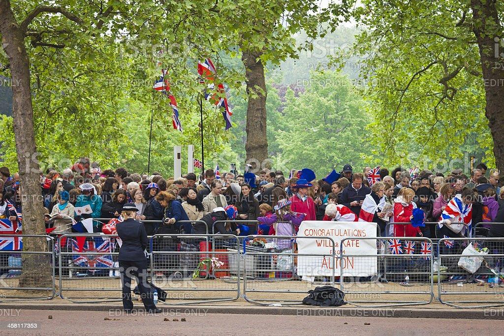 Royal Wedding Celebrations in London royalty-free stock photo