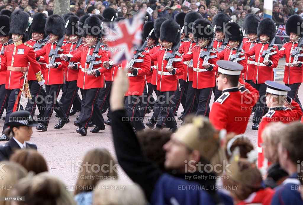 Royal Wedding in London, England royalty-free stock photo