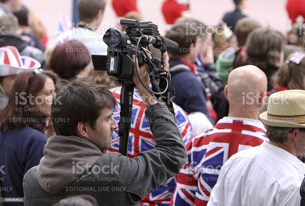 Royal Wedding in London, England royalty-free stock photo