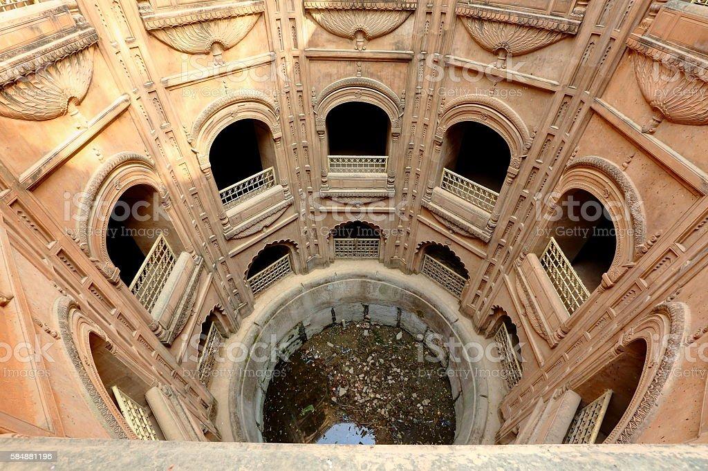 Royal well or Shahi Bouli at Bara Imambara complex, Lucknow stock photo