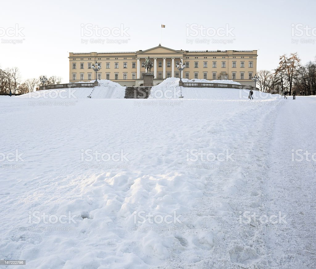 Royale Palace in Oslo. royalty-free stock photo