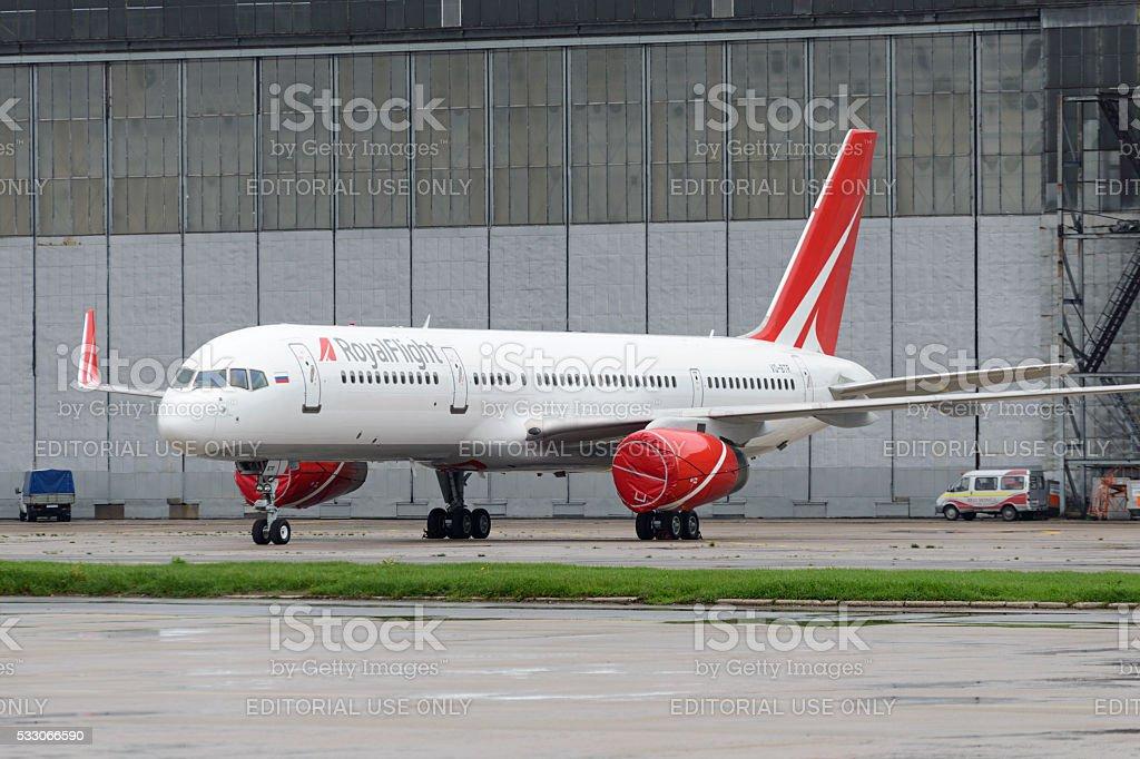 RoyalFlight Boeing 757 stock photo