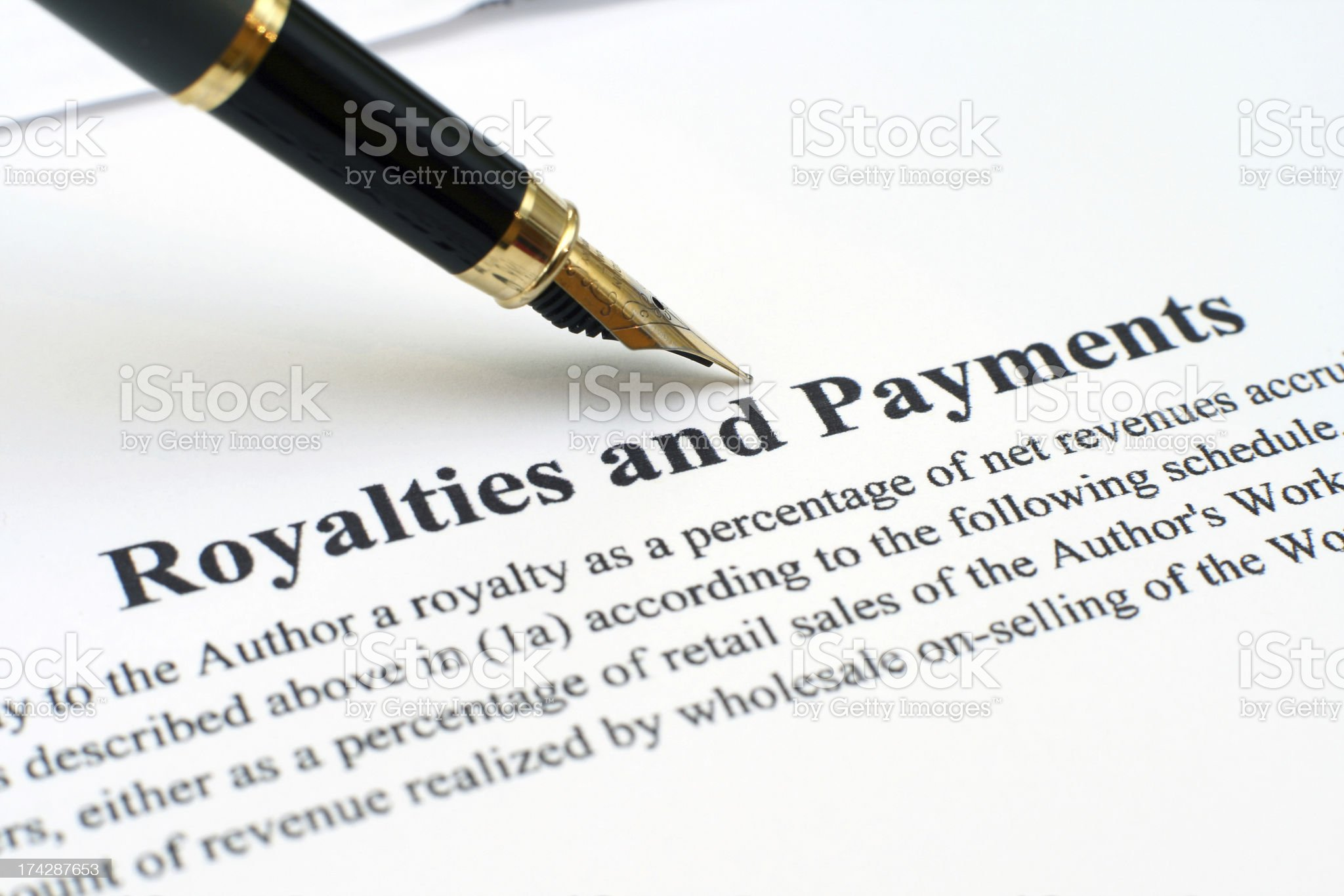 Royalties and payments royalty-free stock photo