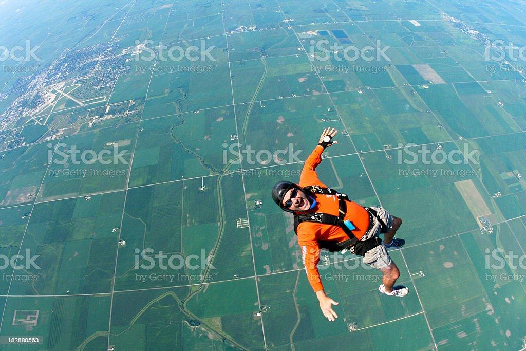 Royalty Free Stock Photo: Happy Skydiver royalty-free stock photo