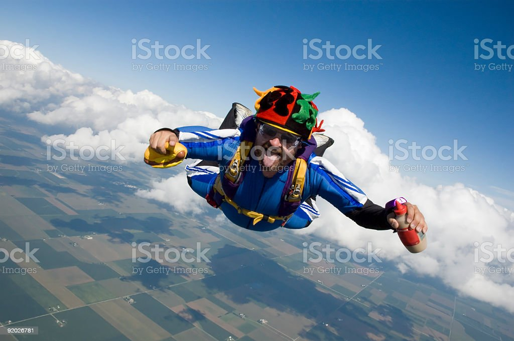 Royalty Free Stock Photo: Hot Dog Skydiver royalty-free stock photo