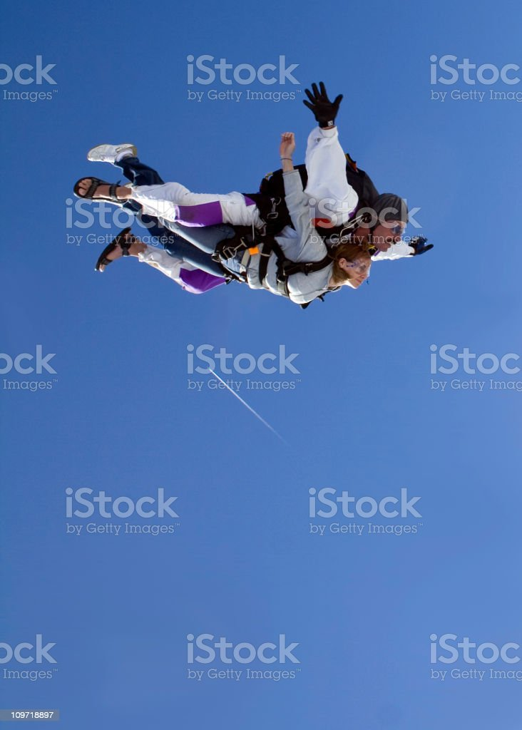 Royalty Free Stock Photo Of  Skydiving Tandem - Flight royalty-free stock photo